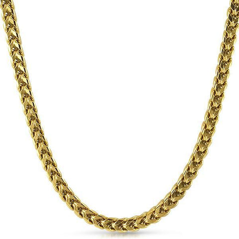 Gold 6mm Jumbo Stainless Steel Franco Chain