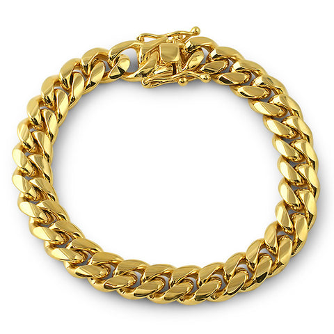 10mm Gold Premium Miami Cuban Bracelet