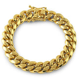 12mm Gold Premium Miami Cuban Bracelet