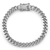 8mm Stainless Steel Cuban Bracelet Diamond Lock