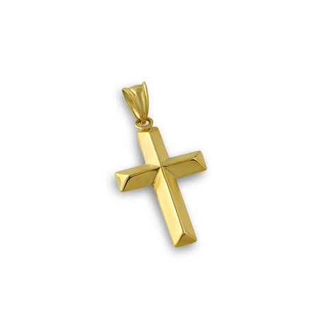 10K Gold Micro 3D Cross Pendant