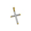 10K Gold Iced Out Micro Cross Pendant