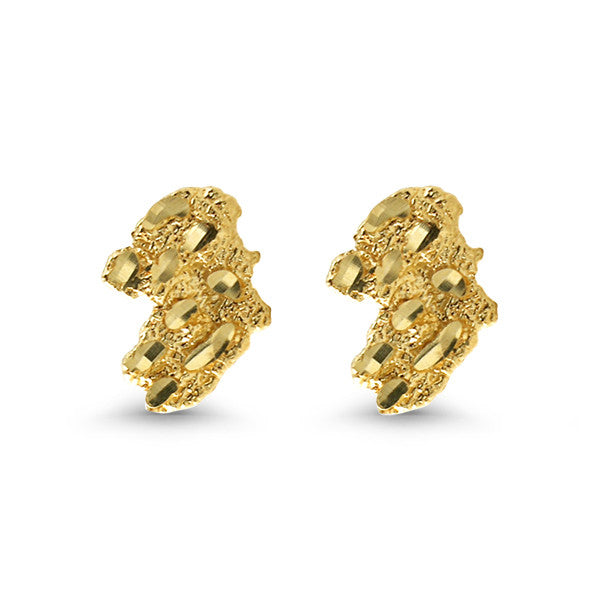 10K Gold Classic Nugget Earrings