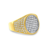 1.25 Carat Solid Gold Oval Mens Ring