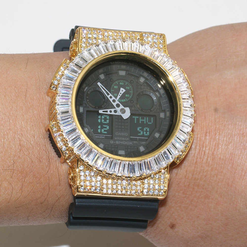 Gold Baguette Custom Jumbo G Shock Watch