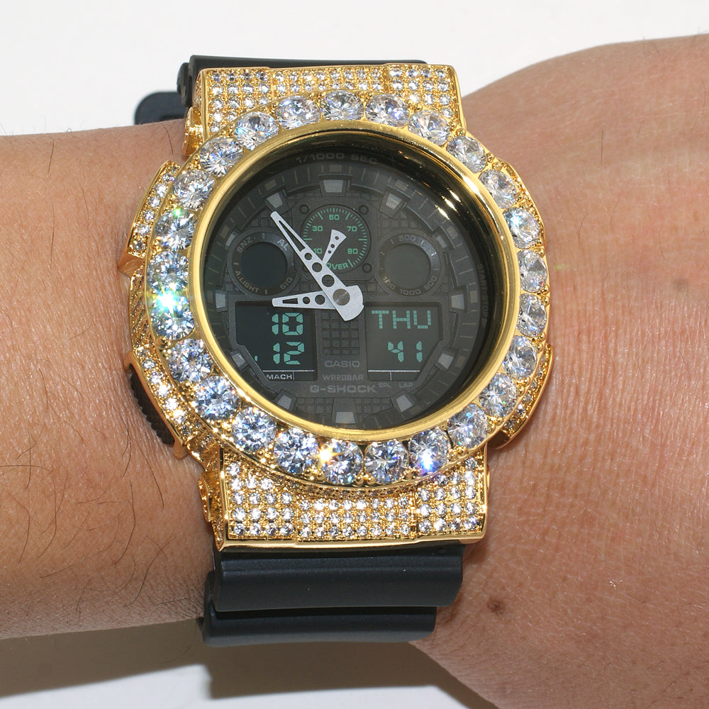 Gold Big Stone Custom Jumbo G Shock Watch