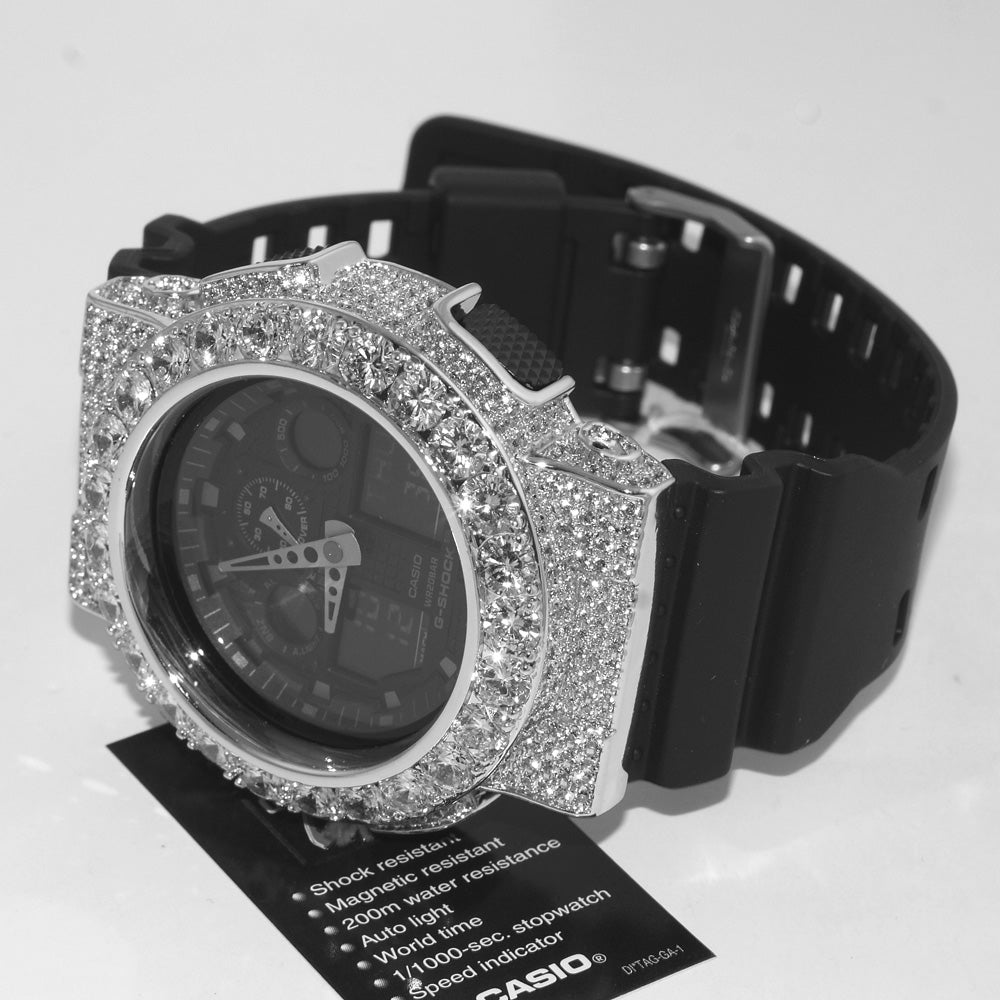 Silver Big Stone Custom Jumbo G Shock Watch