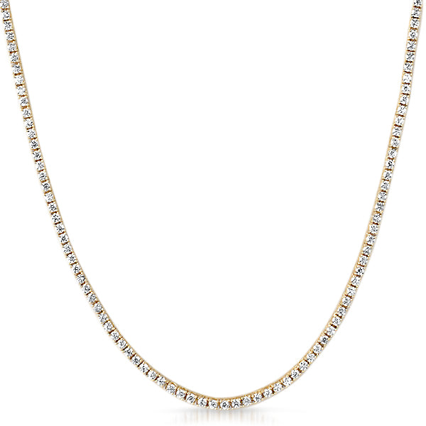 2mm Skinny Lab Made Gold 925 Silver Tennis Chain