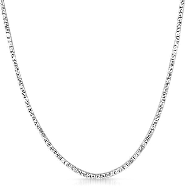 2mm Skinny Lab Made Rhodium Tennis Chain