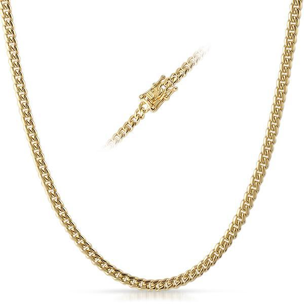 4mm 14K Gold IP Premium Miami Cuban Chain