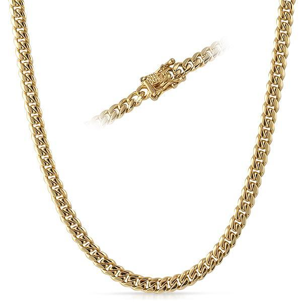6mm 14K Gold IP Premium Miami Cuban Chain