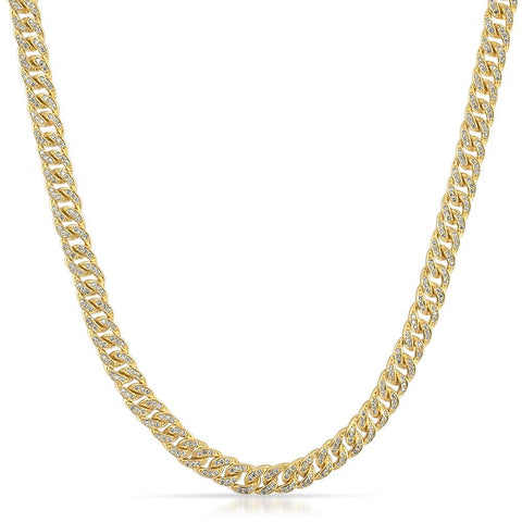 6mm Iced Out Miami Cuban Chain 18K Gold Finish