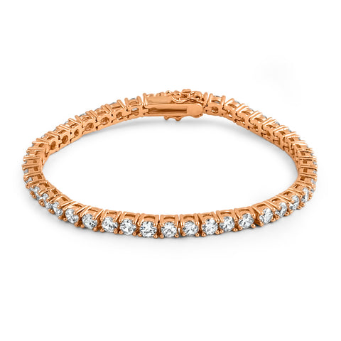 4mm Rose Gold Lab Diamond Tennis Bracelet