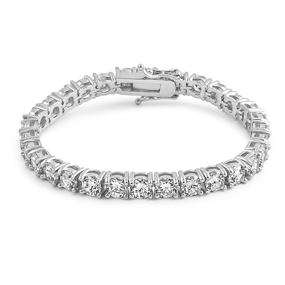 6mm White Gold Lab Diamond Tennis Bracelet