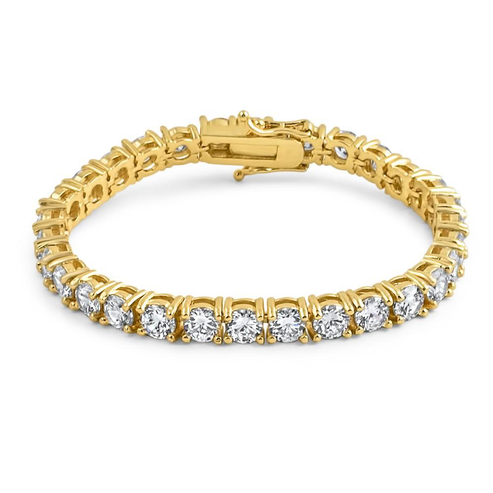 6mm Gold Lab Diamond Tennis Bracelet