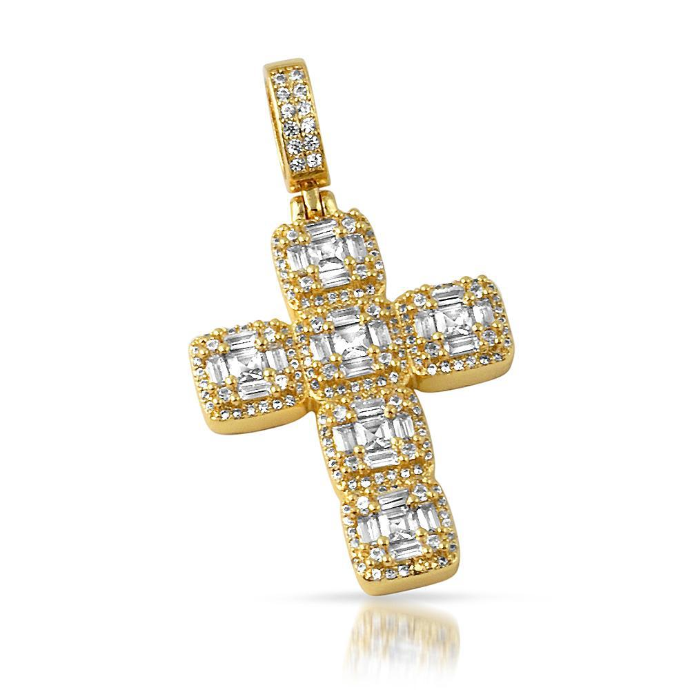 14K Gold Fancy Cuts Mini Cross