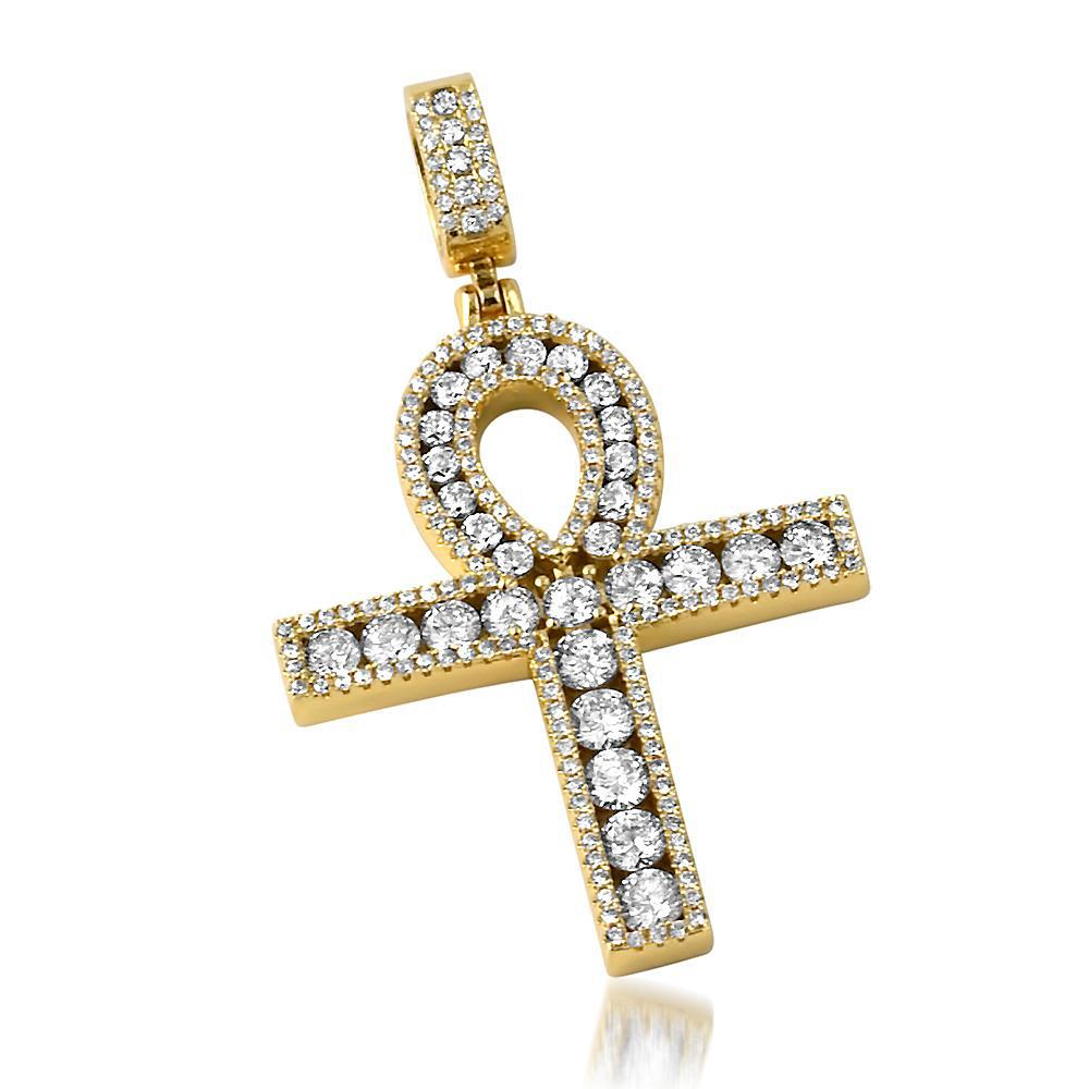 Masterpiece Channel Set Ankh Yellow Gold