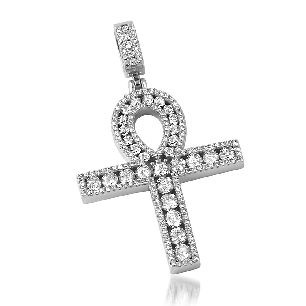 Masterpiece Channel Set Ankh White Gold