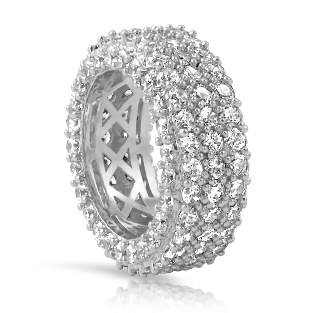 White Gold Diamond Crushed Eternity Ring
