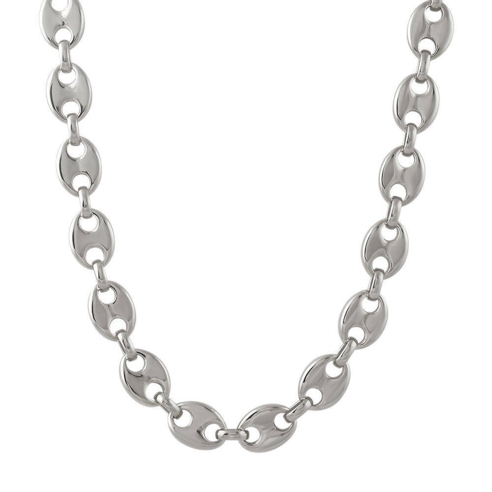 13mm Stainless Steel Puffed Mariner Link Chain