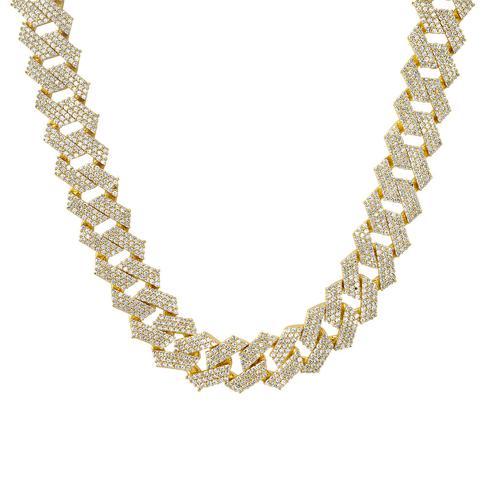 Jumbo Bust Down 19mm Flat Cuban Chain
