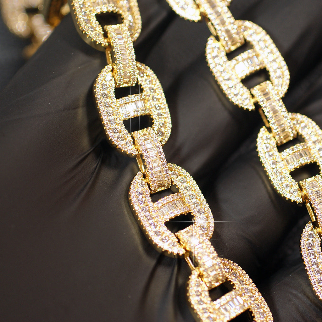 High End Baguette Mariner Bust Down Chain
