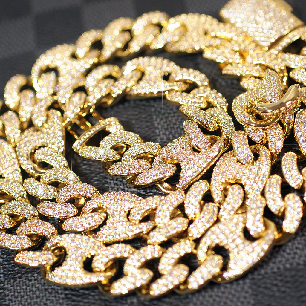 Deluxe Iced Out Diamond Cuban Chain