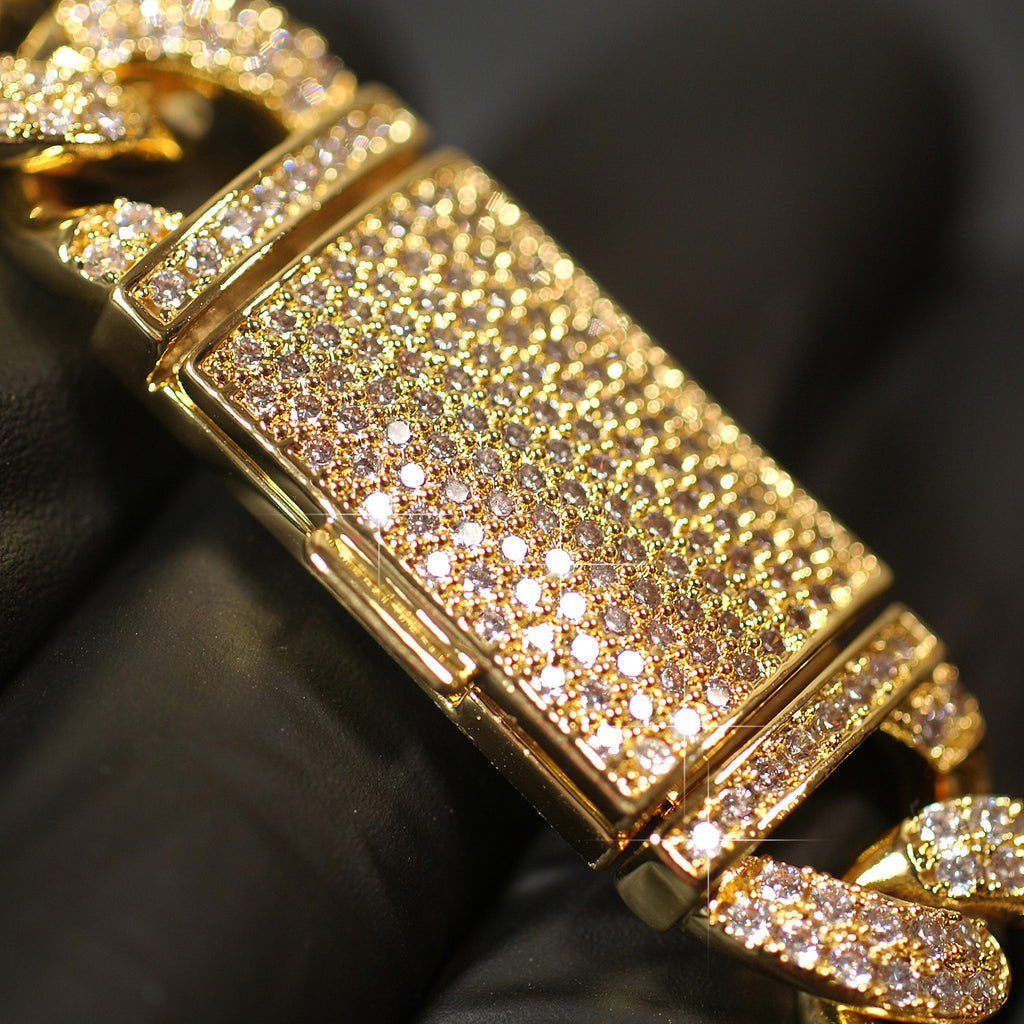 17mm Deluxe Iced Out Cuban Bracelet