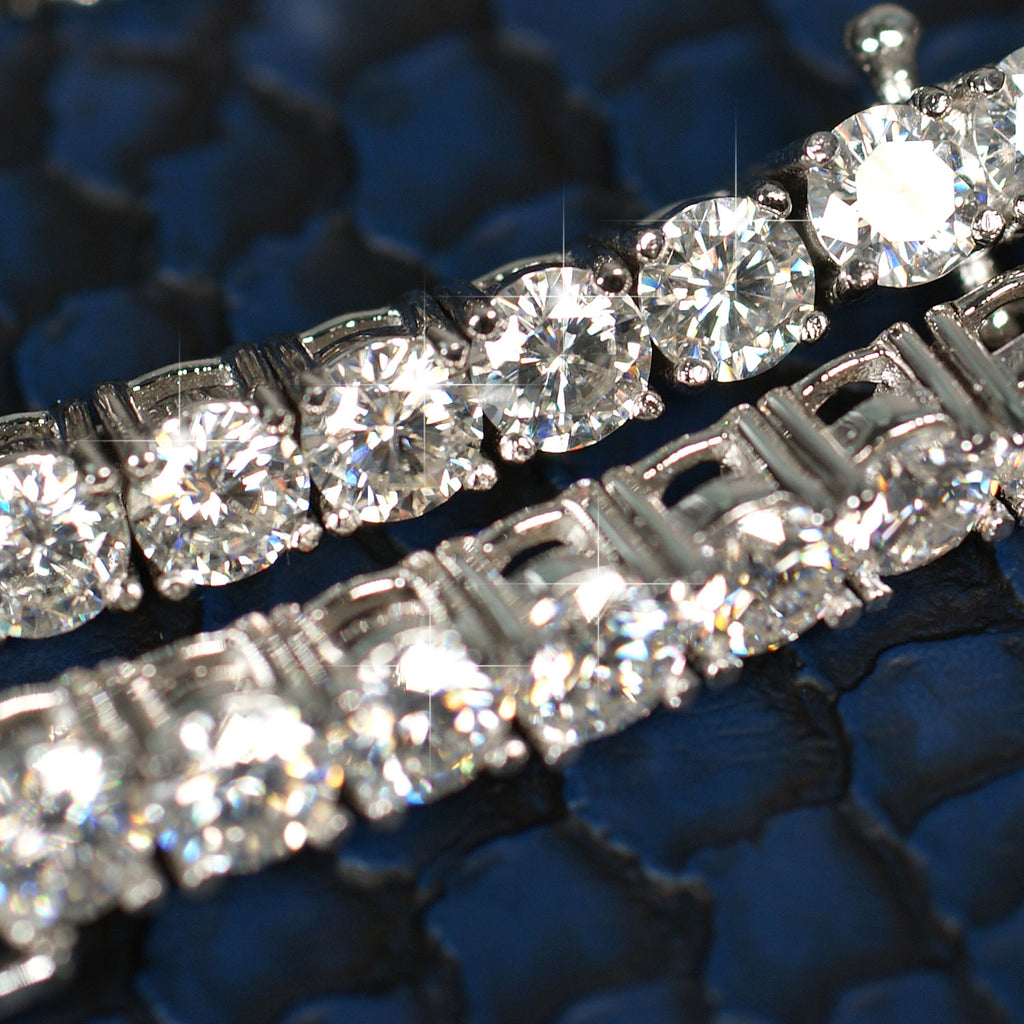 Custom Made VVS Moissanite Tennis Chain