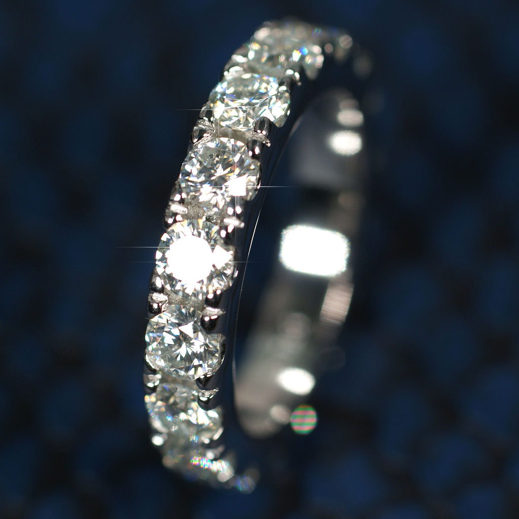 4mm VVS Certified Moissanite Eternity Ring