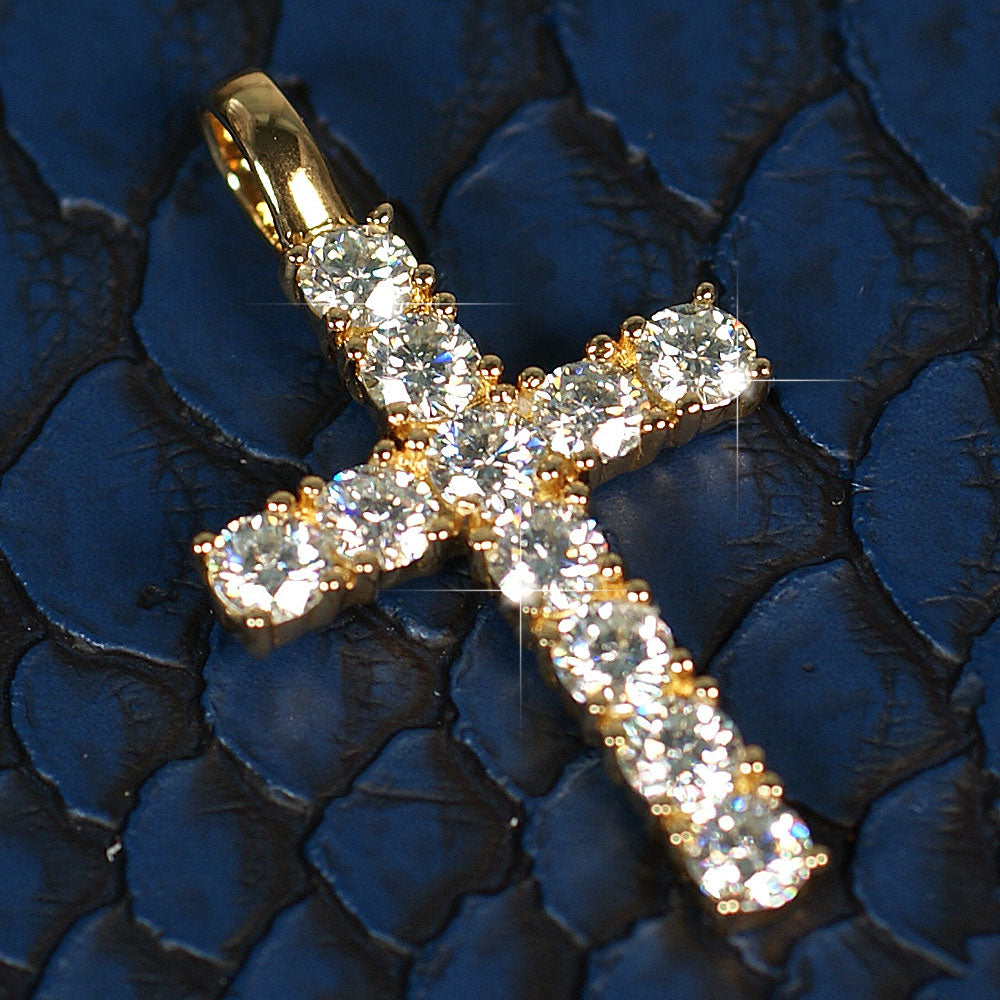3.30 Carat Certified VVS Moissanite Cross