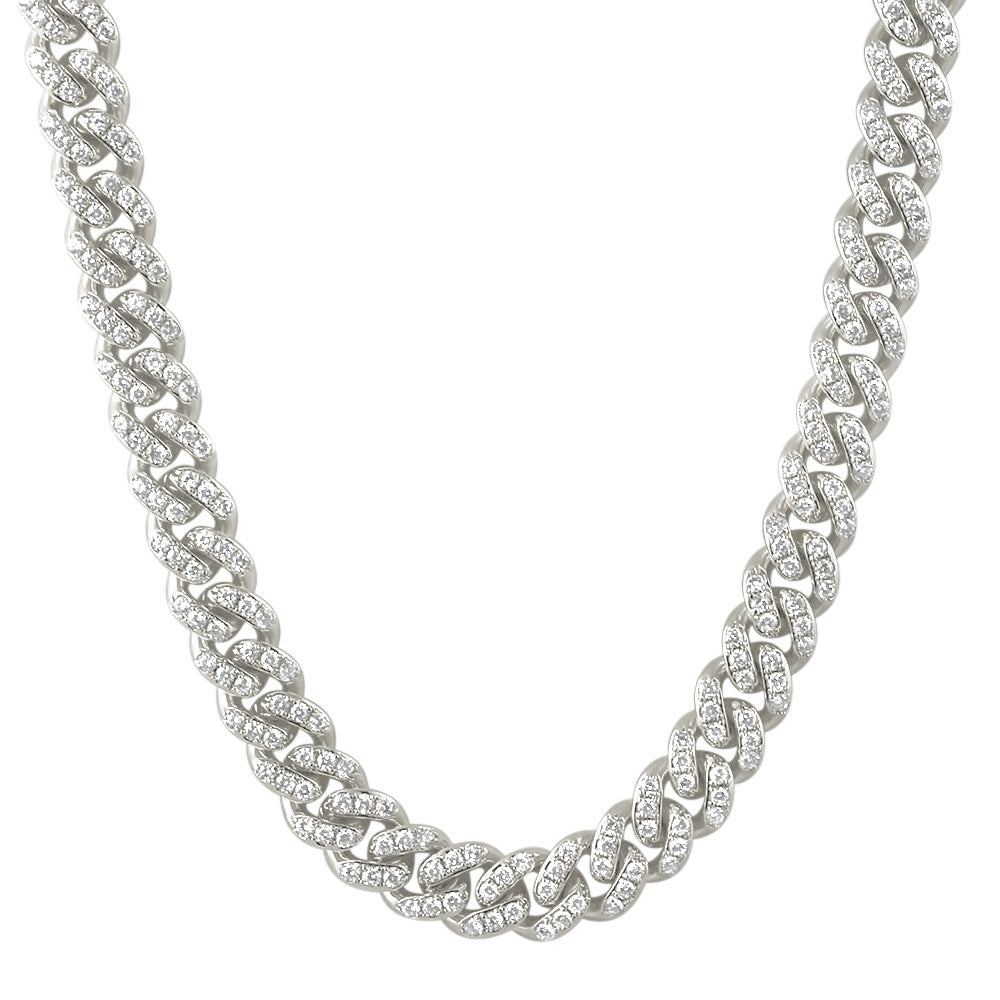13mm Prong Set Iced Out Miami Cuban Chain