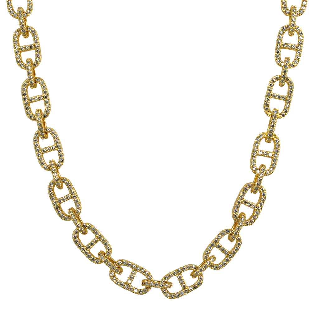 Designer Mariner Link Iced Out Chain