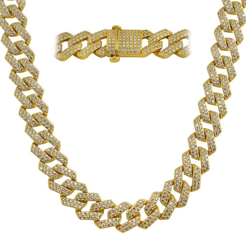 Heavy Bust Down Straight Edge Cuban Chain