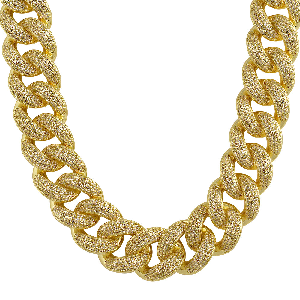 24mm Oversized Iced Out Miami Cuban Chain