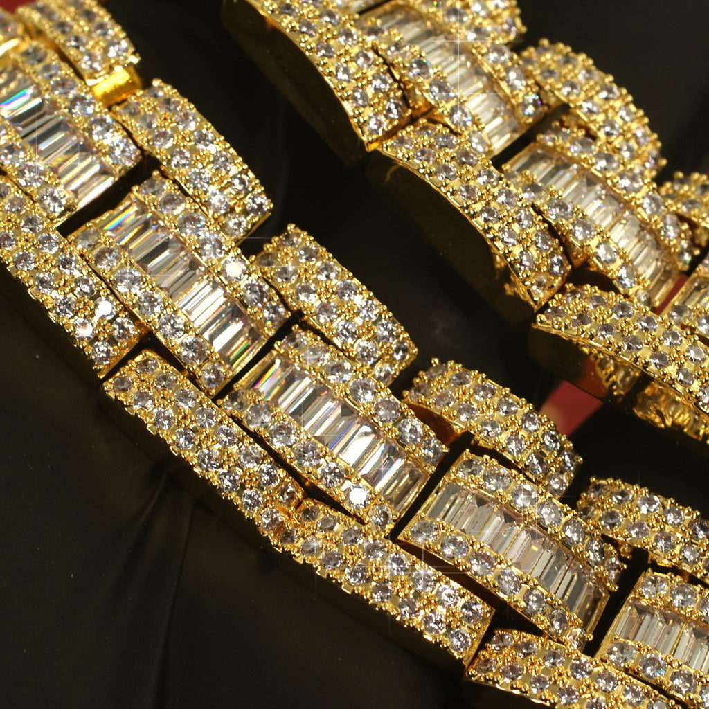 Sky Link Exotic Baguette Iced Out Chain