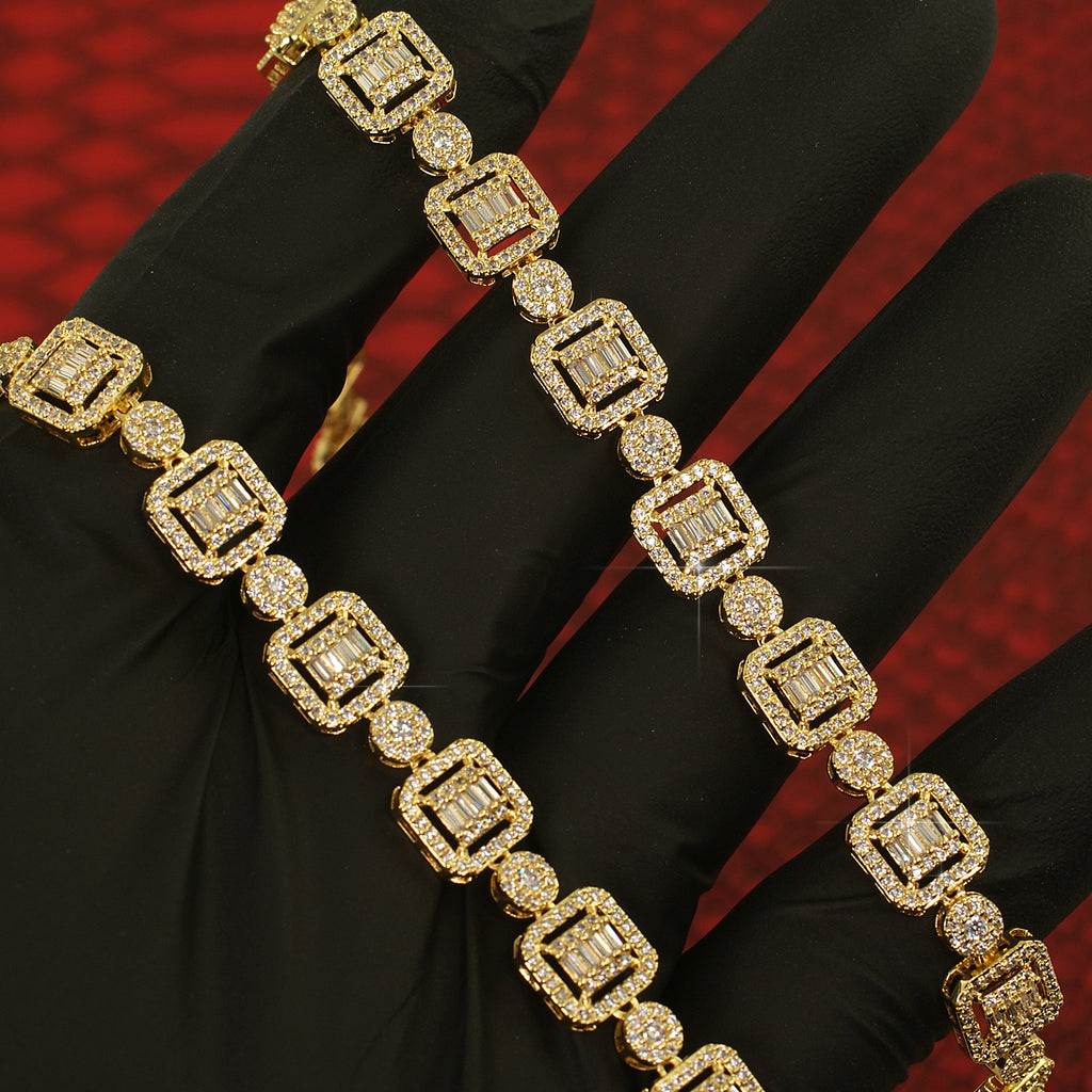 Exotic Baguette Simulated Diamond Chain