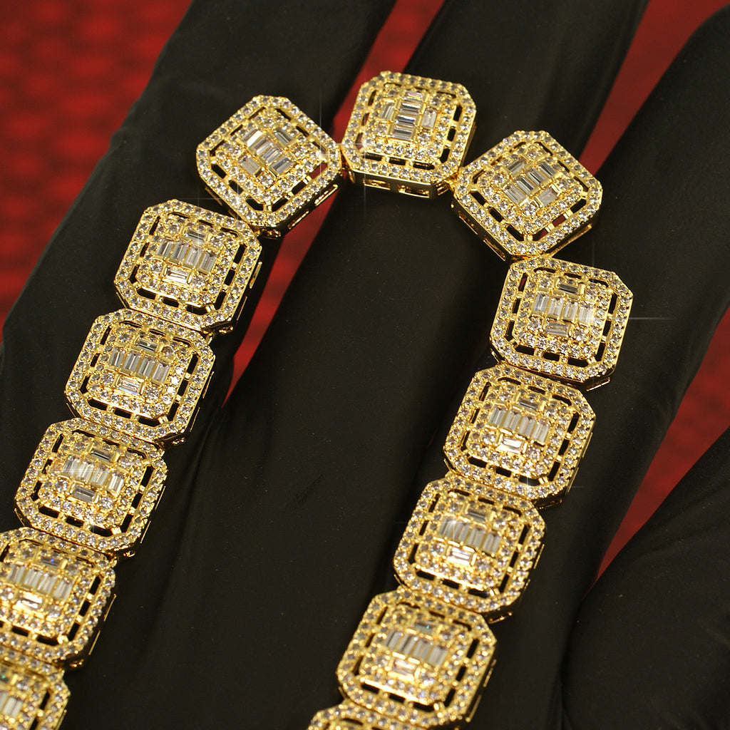 Royalty Baguette Simulated Diamond Chain