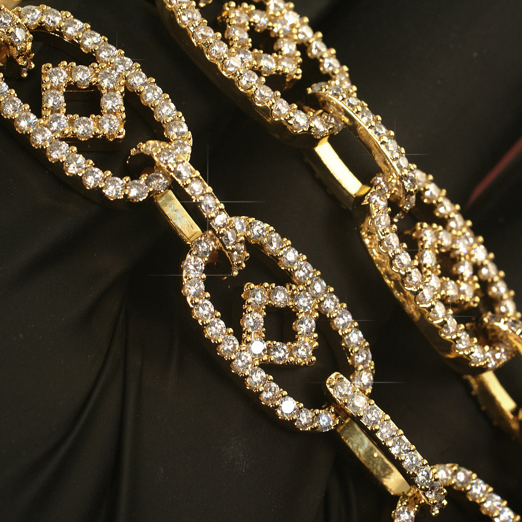 Fancy Oval Links Iced Out Chain