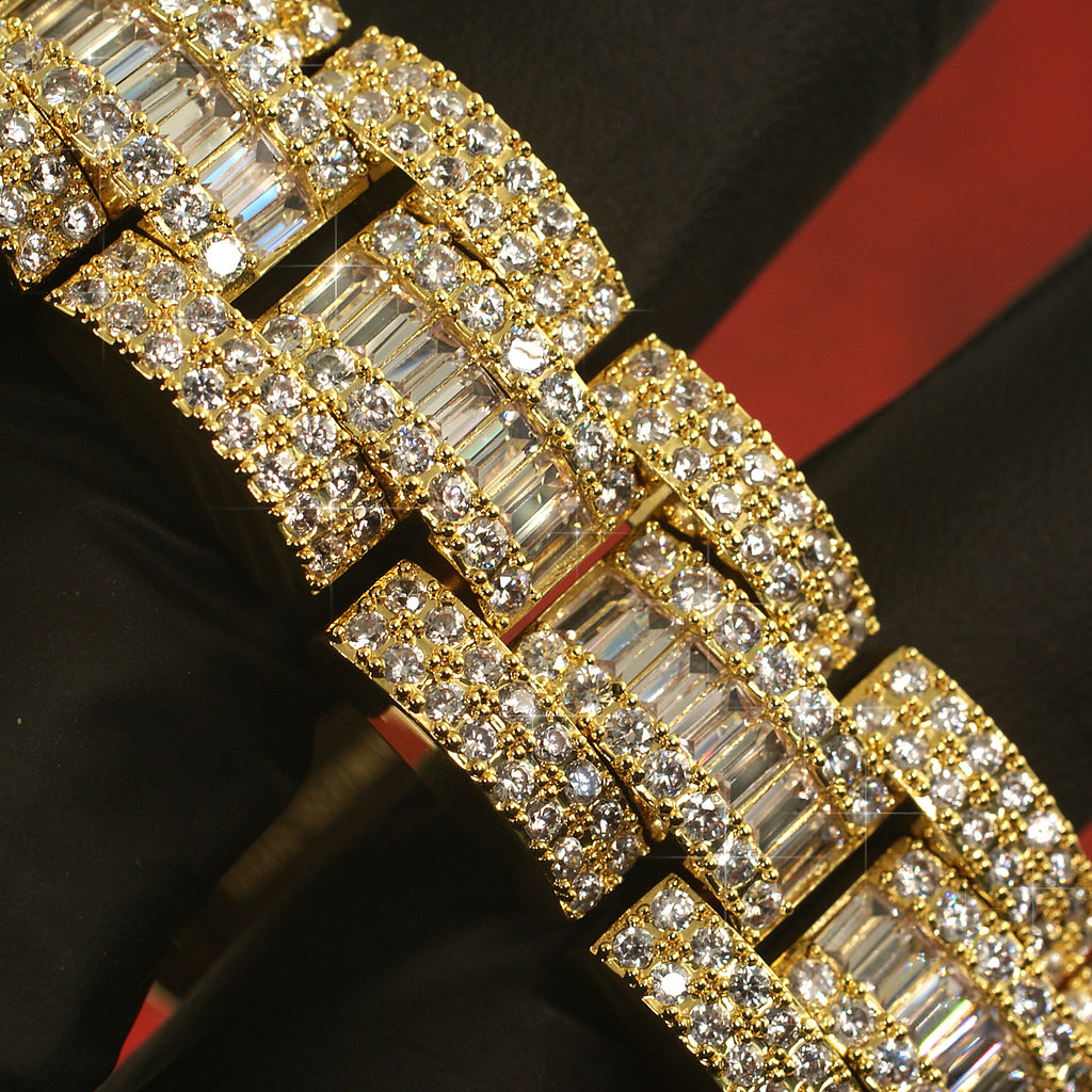 Sky Link Exotic Baguette Iced Out Bracelet