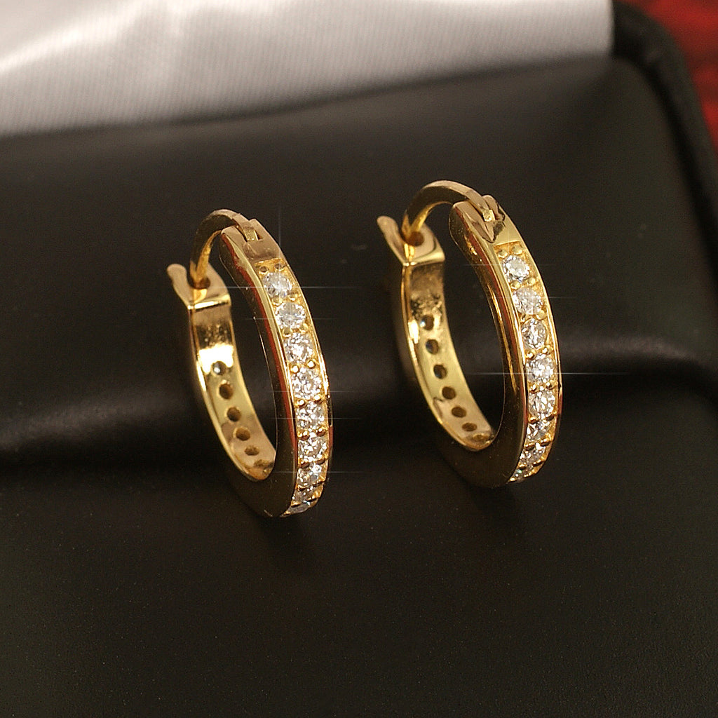 0.55 Carat VVS Moissanite Hoop Earrings