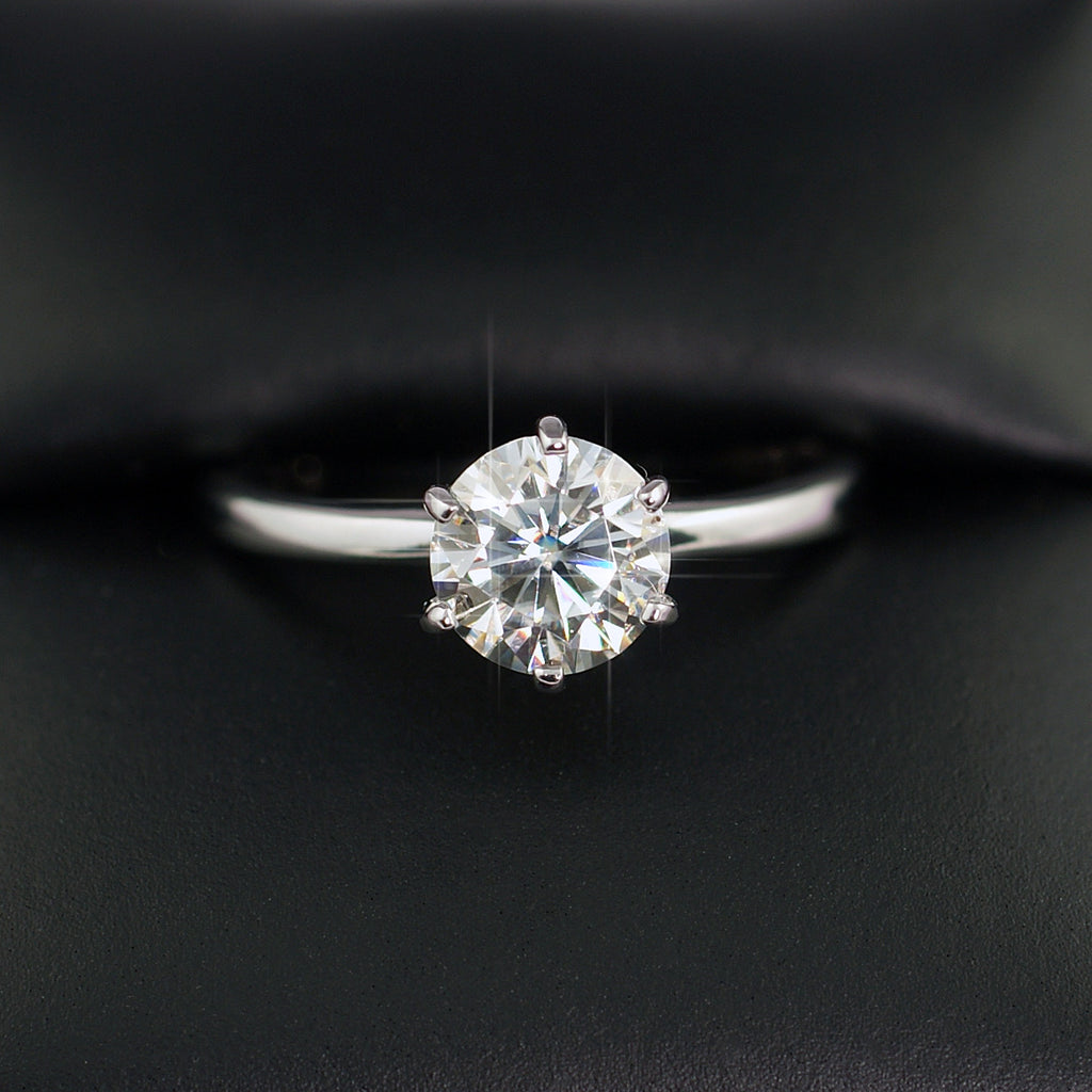 1.20 Carat VVS Moissanite Solitaire Engagement Ring