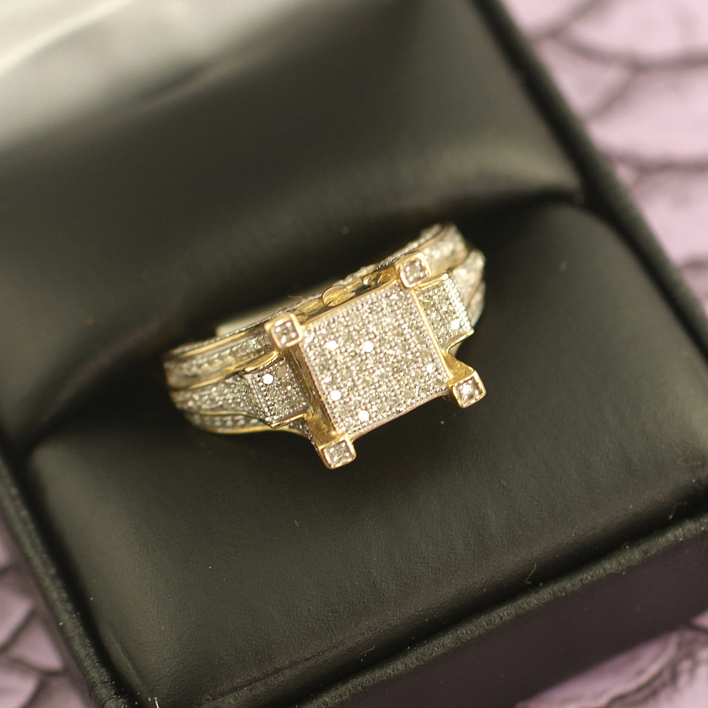 10K gold 0.50 Carat Diamond Fancy Ladies Ring