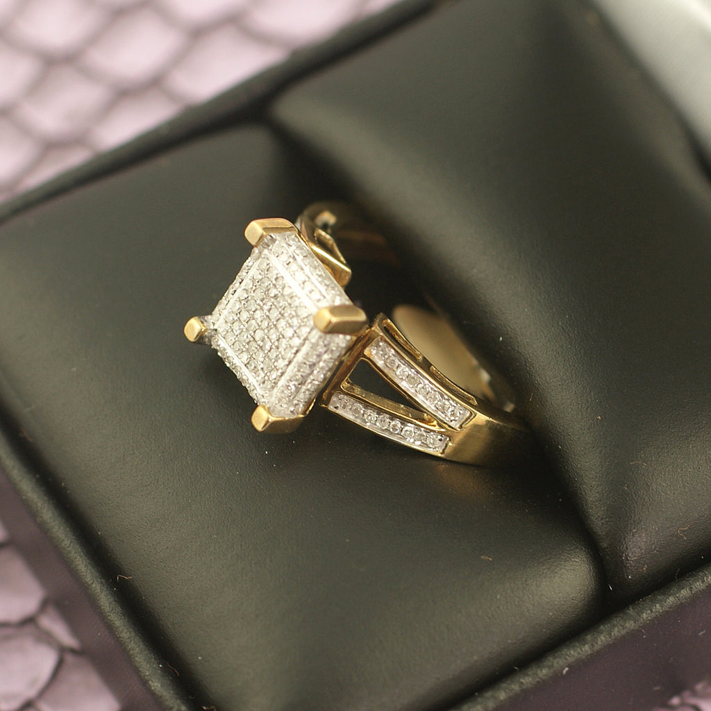 10K gold 0.25 Carat Diamond Ladies Ring