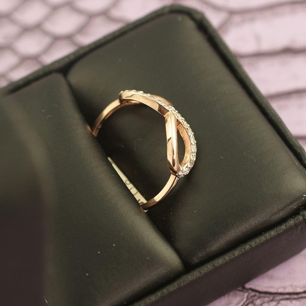 10K Rose Gold 0.25 Carat Infinity Diamond Ring