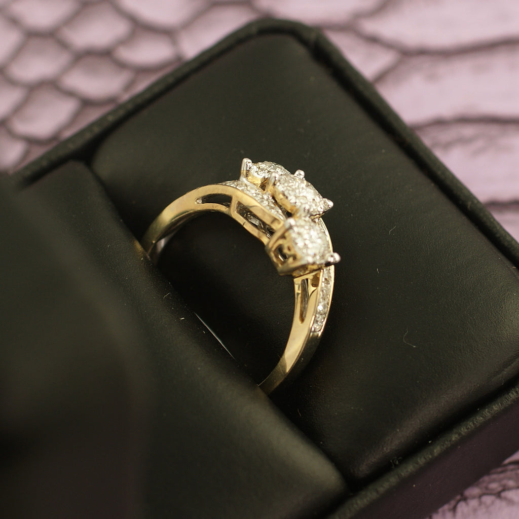 0.50 Carat Gold Fancy Diamond Cocktail Ring