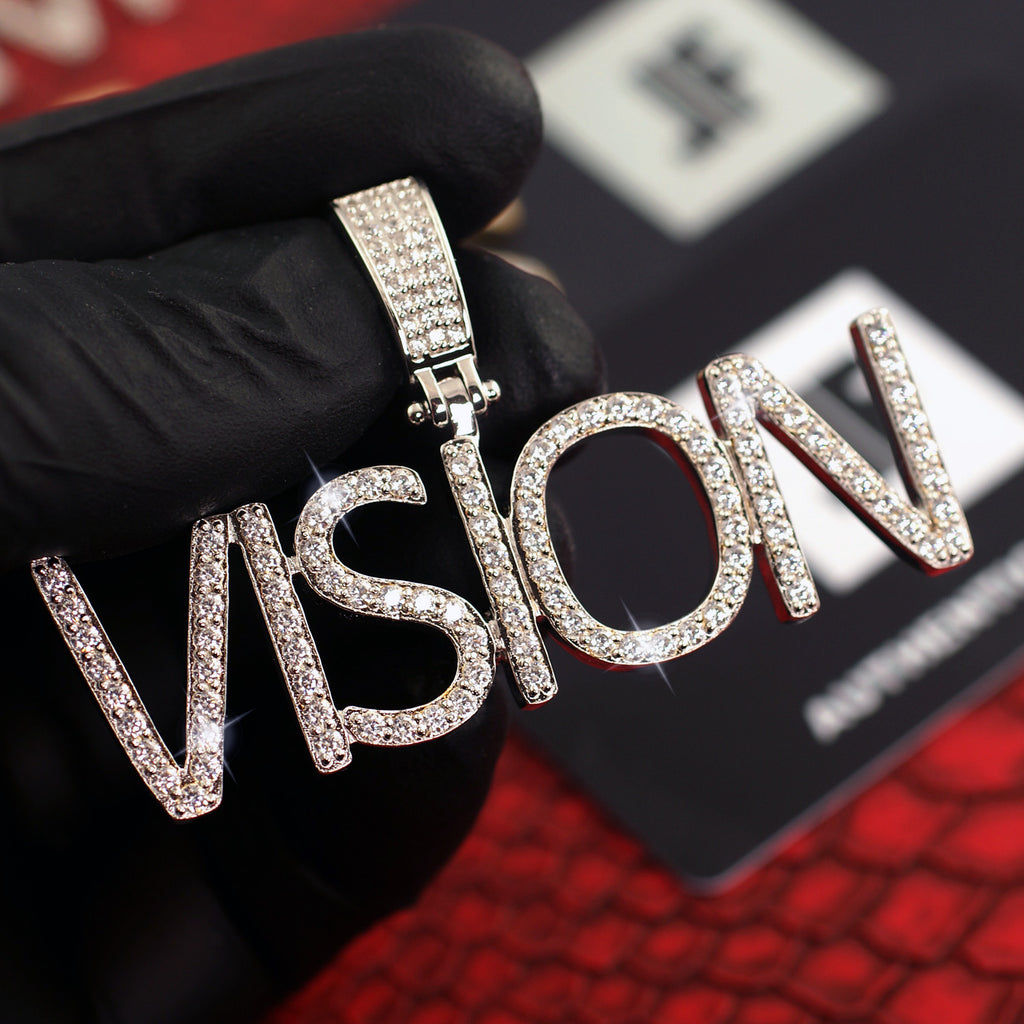 Custom VVS Iced Out Pave Letters Pendant