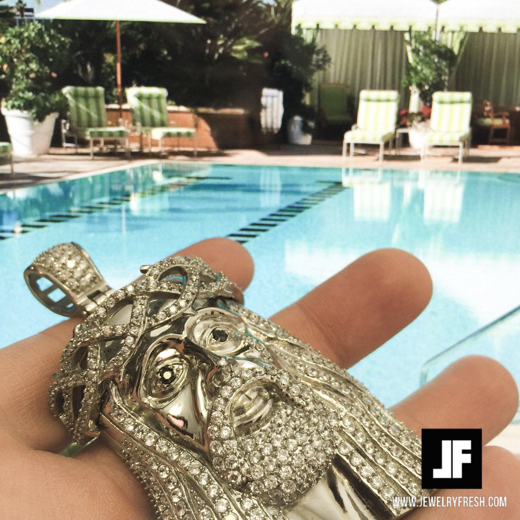 Large 3D Jesus Piece Stainless Steel