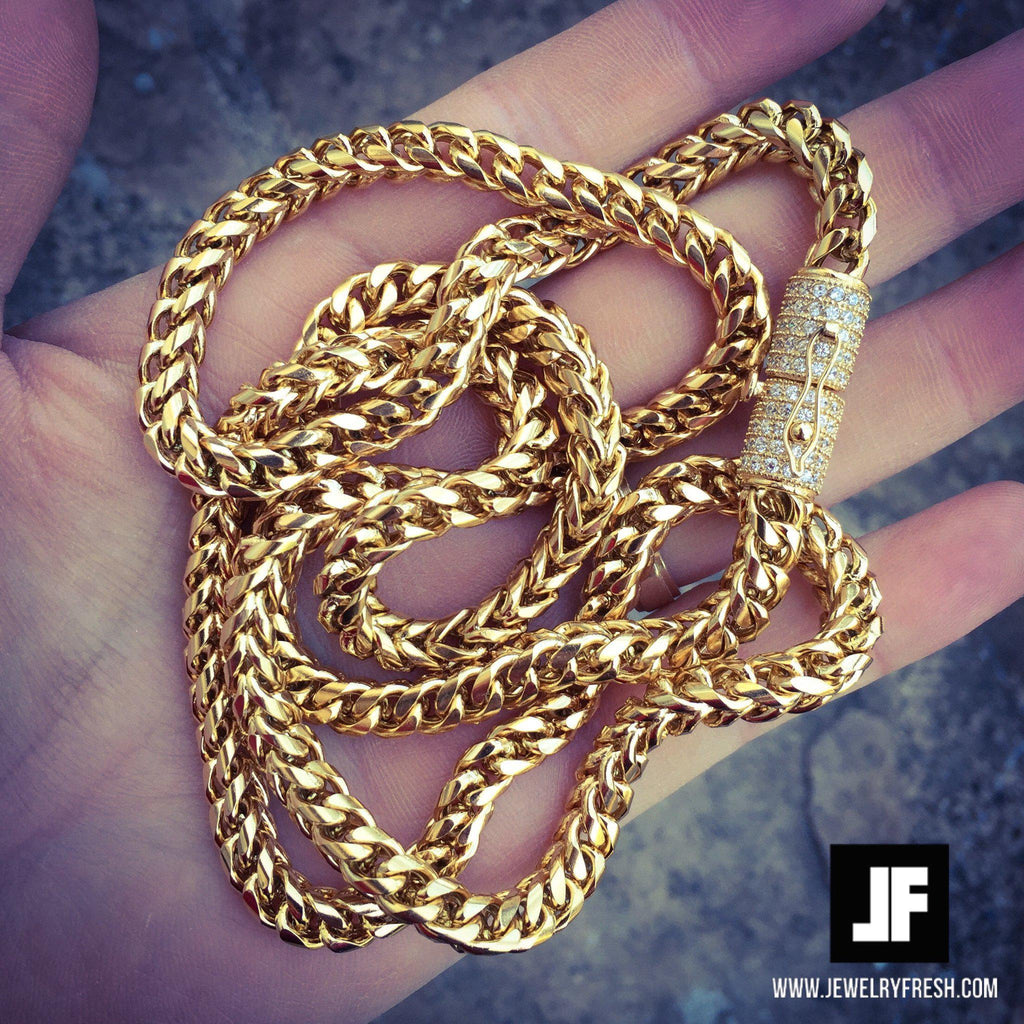 6mm 18K Gold IP Luxury Edition Franco Chain