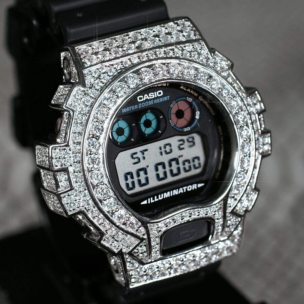 8.30 Carat VVS1 Moissanite G Shock Watch